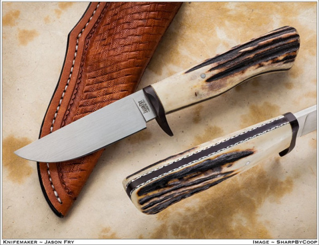 back in december of last year for my 300th knife i built a frame handle hunter i took work in progress pictures and posted the wip on several forums